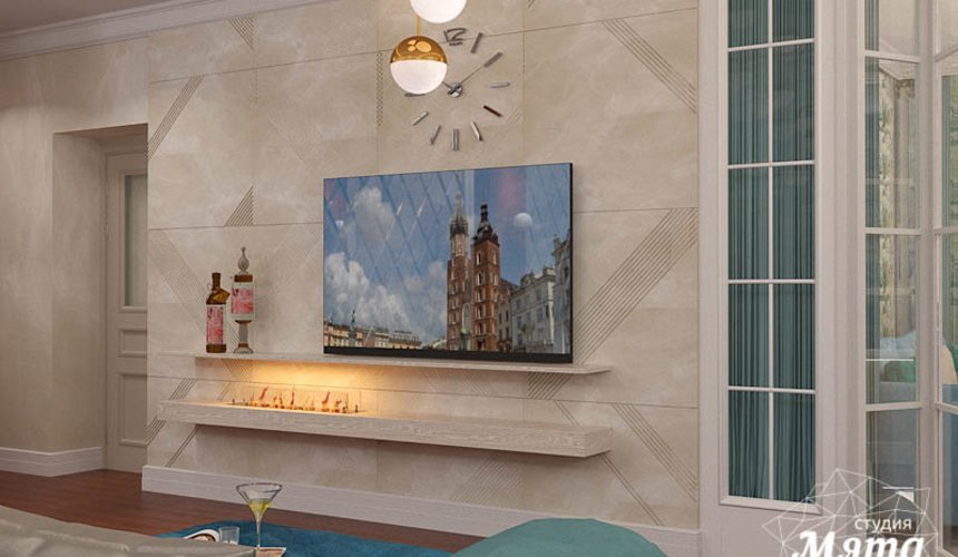 Дизайн интерьера квартиры в стиле современной классики в ЖК Вивальди 4