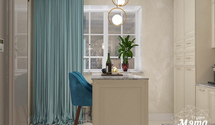 Дизайн интерьера квартиры в стиле современной классики в ЖК Вивальди 12