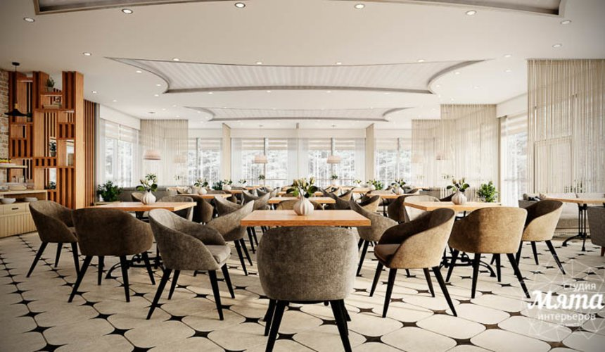 Дизайн интерьера ресторана термального комплекса Акварель г. Туринск 5