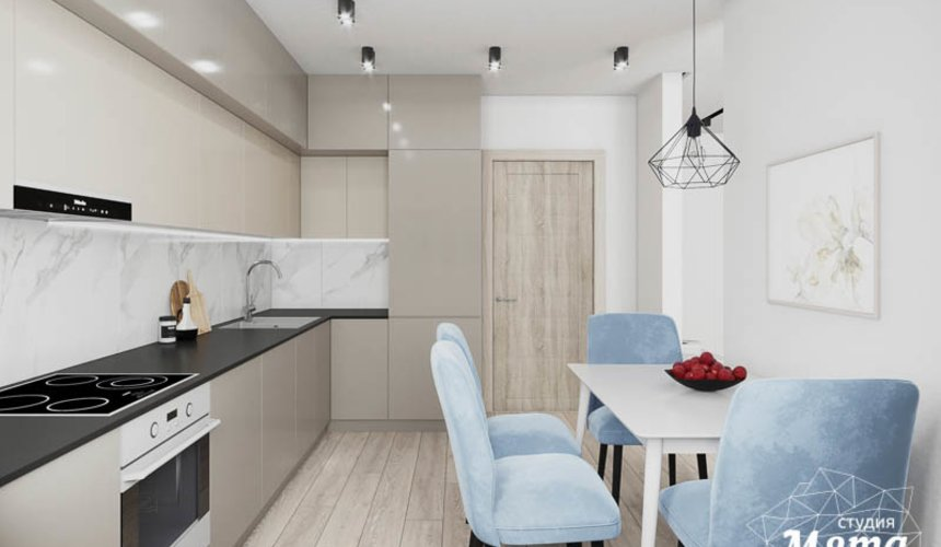 Дизайн интерьера трехкомнатной квартиры в ЖК Дом у пруда ... 6