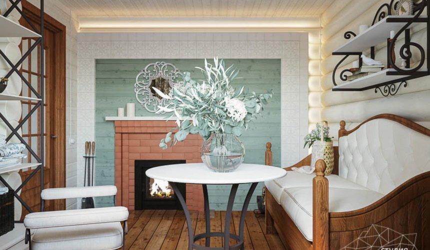 Дизайн интерьера комнаты отдыха в бане с. Косулино 4