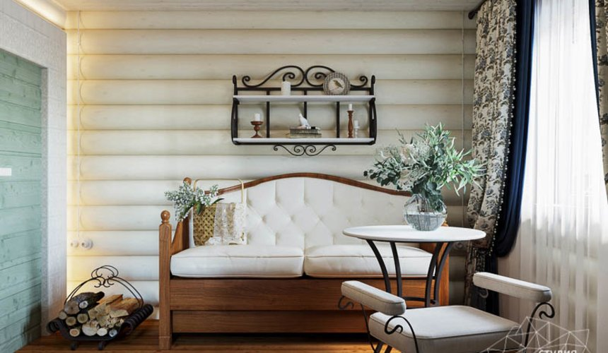 Дизайн интерьера комнаты отдыха в бане с. Косулино 6