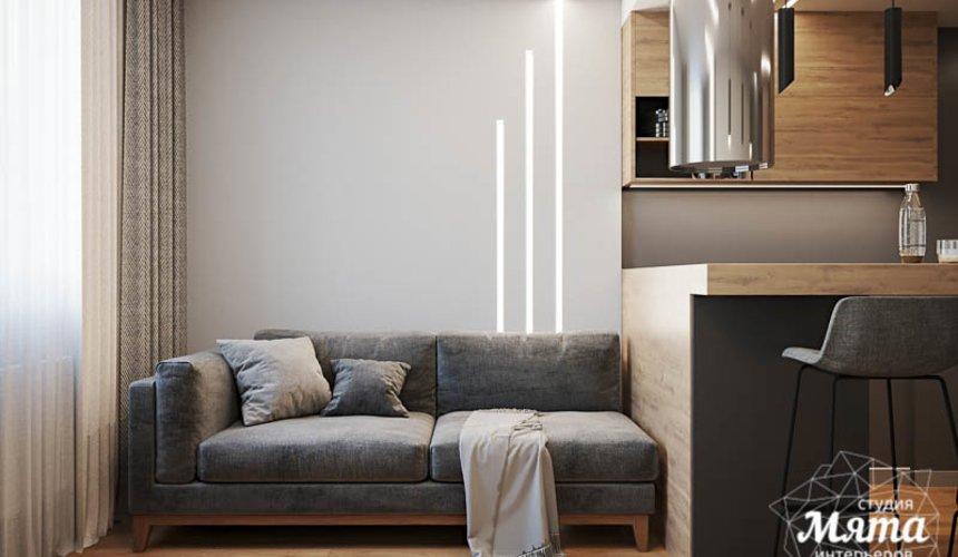 Дизайн интерьера однокомнатной квартиры в ЖК Оазис 3