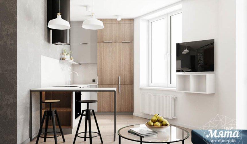Дизайн интерьера квартиры - студии в ЖК Стрелки 7