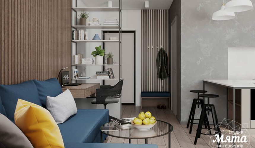 Дизайн интерьера квартиры - студии в ЖК Стрелки 3